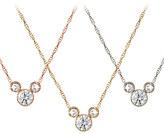 Disney Diamond Mickey Mouse 14K Necklace - Medium