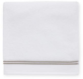 Sferra Aura Bath Sheet - White/Stone