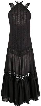 Charo Ruiz Ibiza Lace-Trimmed Halterneck Dress
