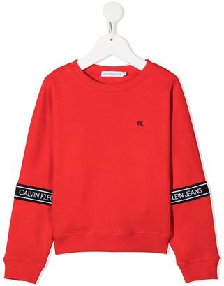 Calvin Klein Kids Logo Tape Sweatshirt