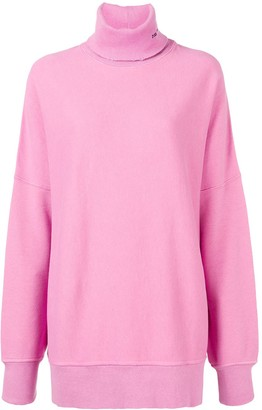 Calvin Klein Oversized embroidered turtleneck sweater