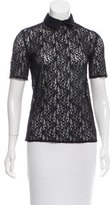 The Kooples Lace Short Sleeve Polo