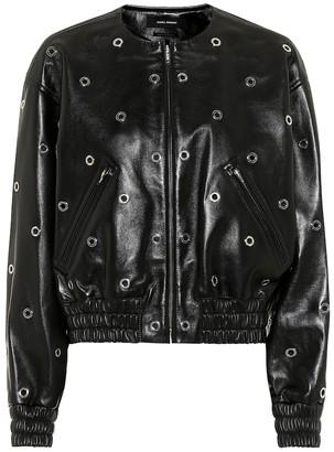Isabel Marant Quenty leather bomber jacket