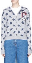 Marc Jacobs Double J logo patch star print hoodie