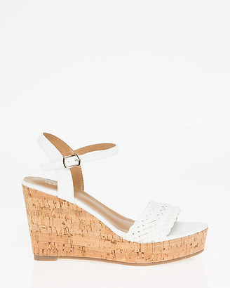 Le Château Braided Open Toe Wedge Sandal