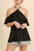 Umgee USA Ruffle Sleeve Top