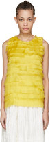 Sara Lanzi Yellow Silk Net Tank Top