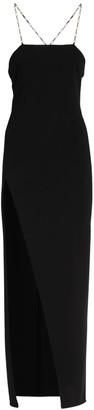 ATTICO Viscose Jersey Long Dress W/Chain Straps