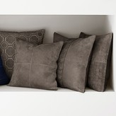 Suede Origami Cut Pillow Cover, Grey