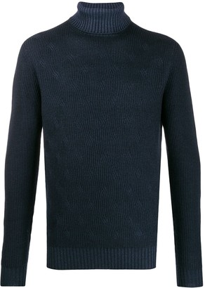 Corneliani ribbed turtleneck jumper