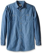 Lee Men's Big and Tall Textured Chambray Worker Shirt