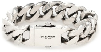 Saint Laurent Curb-chain bracelet