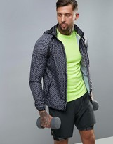 New Look New Look Sport Hooded Jacket With Print In Black
