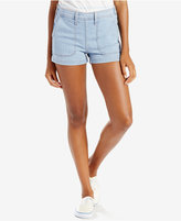 Levi's Orange Tab High-Rise Utility Shorts, Select for Macy's
