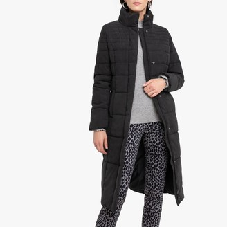 Anne Weyburn Long Zip-Up Padded Jacket with Stain-Resistant Treatment
