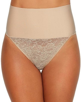 Maidenform Tame Your Tummy Lace Thong