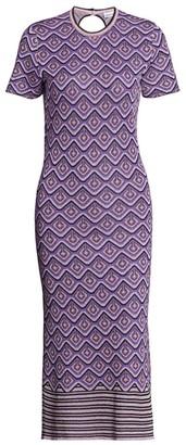 Paco Rabanne Lurex Jacquard Midi Dress