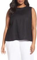 Eileen Fisher Plus Size Women's Organic Linen Shell