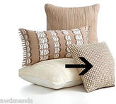 Martha Stewart Living Beige Beaded Sequin Decorative Throw Pillow, 16 X 16