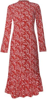 Glamorous Petites Womens **High Neck Midi Dress By Glamorous Petite - Red