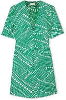 RIXO London Laura Printed Crepe Mini Dress - Jade