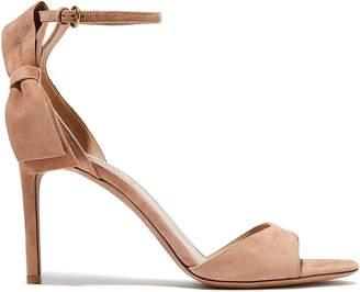 Valentino Garavani Bow-embellished Suede Sandals