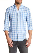 Report Collection Plaid Linen Regular Fit Shirt