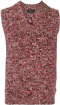 Prada melange V-neck vest