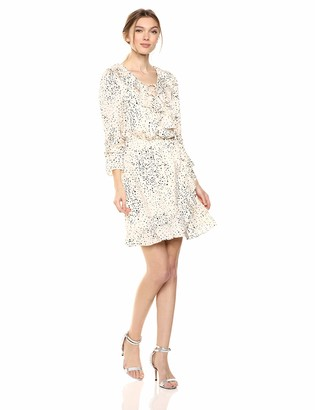 Cupcakes And Cashmere Women's Justice Printed Reverse Crepon wrap Dress