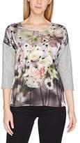 Taifun Women's Urban Spirit Longsleeve T-Shirt, Grau (Granit Druck 09)