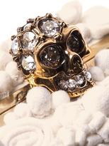 Alexander McQueen Glory skull 3D flower clutch