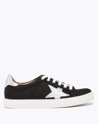 Up Star M&S CollectionMarks and Spencer Suede Lace Trainers