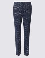 M&S Collection Metallic Jacquard Slim Leg Trousers