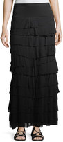 Chelsea & Theodore Plus Tiered Pull-On Maxi Skirt, Plus Size
