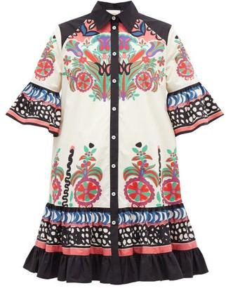 La DoubleJ Choux Printed Cotton-poplin Dress - White Print