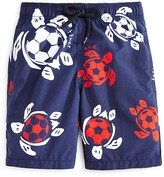 Vilebrequin Boys' Soccer Turtles Swim Trunks - Sizes 10-14