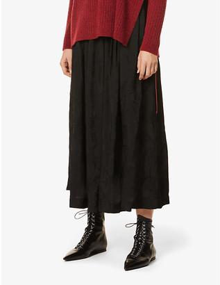 UMA WANG Gianna high-waisted jacquard midi skirt