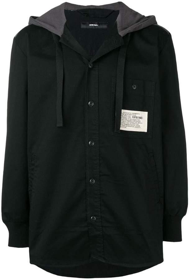Diesel hooded shirt jacket