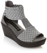 "Steve Madden Steven by Bengle"" Woven T-Strap Wedge"