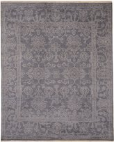 EORC SHT30GY9X12 Hand-Knotted Wool Monochrome Oushak Rug