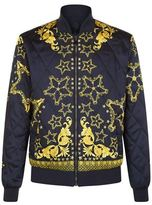 Versace Collection Reversible Quilted Bomber Jacket