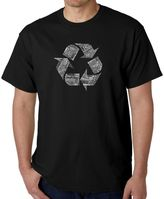 Men's Word Art Recycle T-Shirt in Black