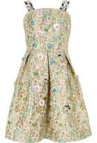 River Island Girls cream floral jacquard prom dress