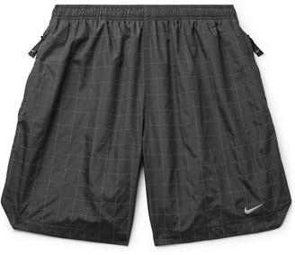 Nike Flash Wide-Leg Printed Shell Shorts