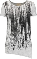 DKNY Printed stretch-jersey top