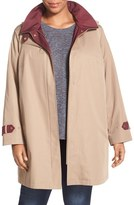 Gallery Plus Size Women's Water Repellent A-Line Rain Jacket