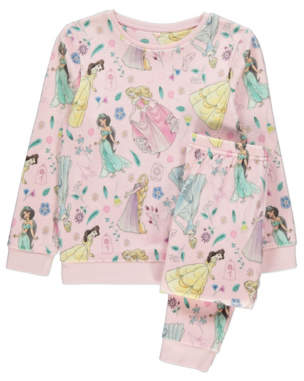 Disney George Princess Pink Print Fleece Pyjamas