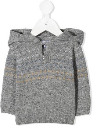 Knot Hooded Knit Jumper