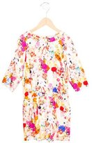 Paul Smith Girls' Floral Print Long Sleeve Dress