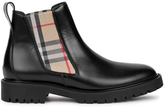 Burberry Allostock black leather Chelsea boots